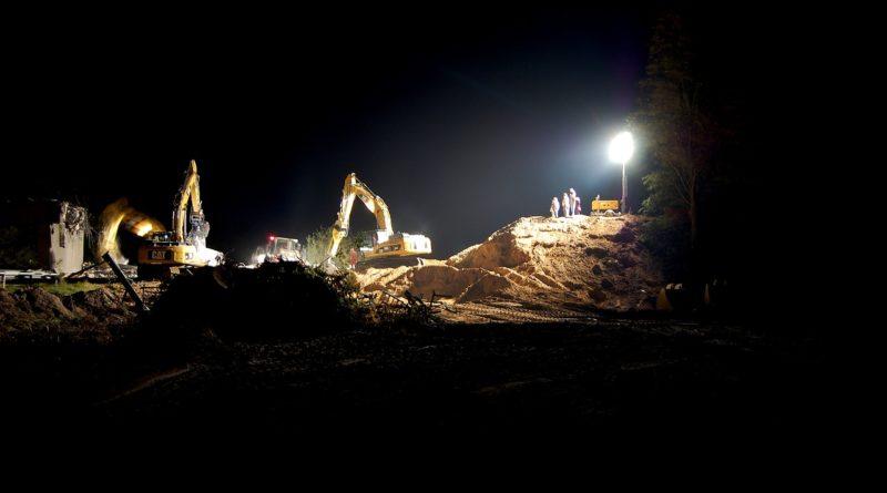 chantier de nuit