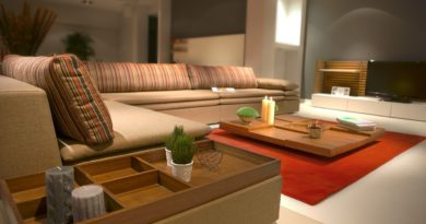 Fauteuil et table salon confortable
