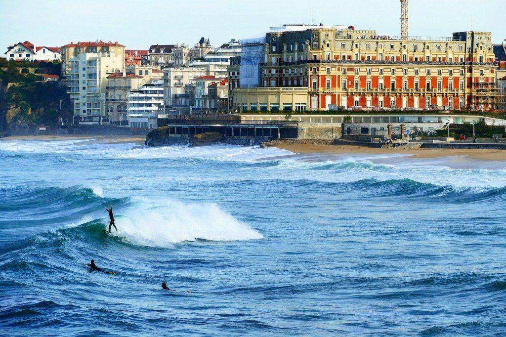 Biarritz pays basque surf