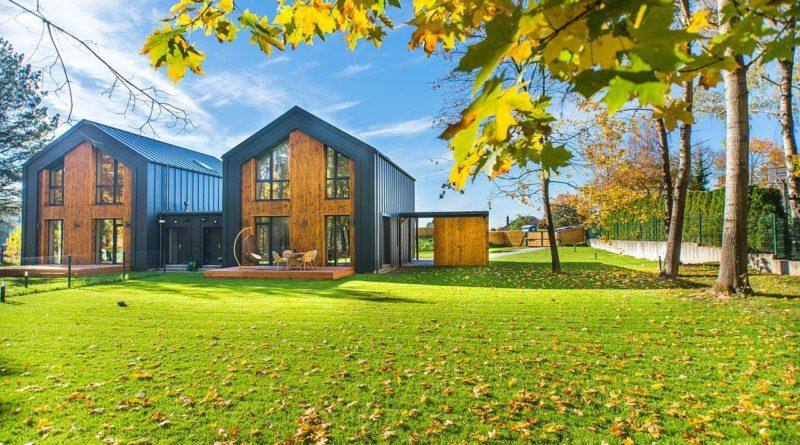 Maison moderne bois ecologique